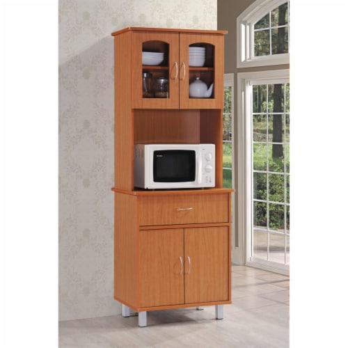 Kitchen Cabinet in Cherry - Hodedah Perspective: back