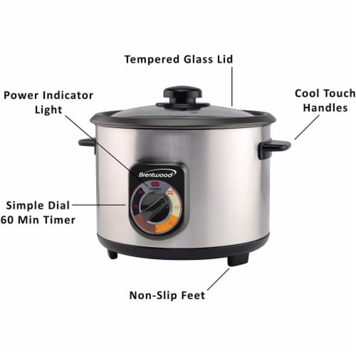 Brentwood TS-1020S 700W 20 Cup Persian Style Crunchy Tahdig Scorched Rice Cooker Perspective: back