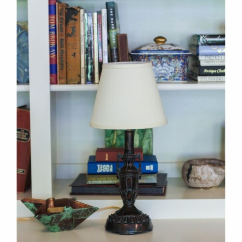Slant Empire Hardback Lampshade with Bulb Clip, Egg Perspective: back