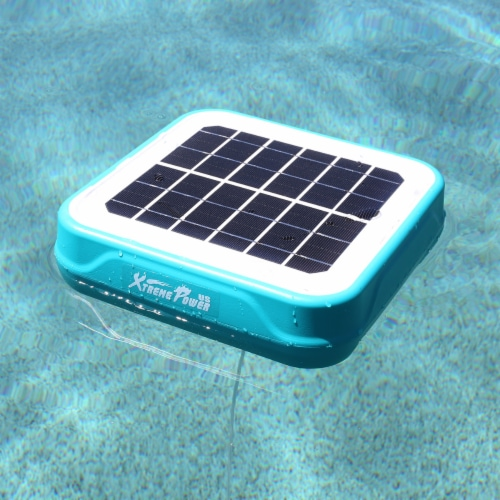Solar Powered Pool Ionizer Kills Algae Using Less Chlorine Above or In Ground Perspective: back