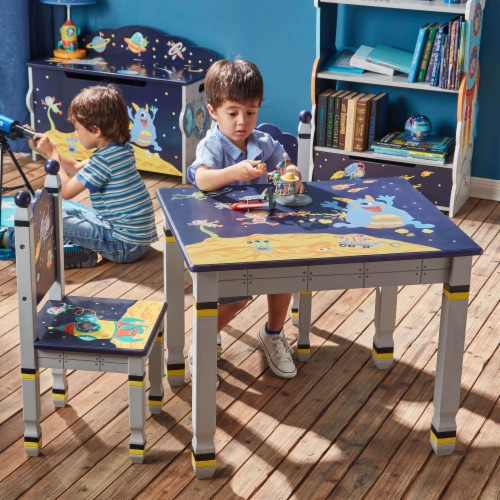 Fantasy Fields Childrens Kids Outer Space Wooden Table (no chairs) TD-12211A1 Perspective: back