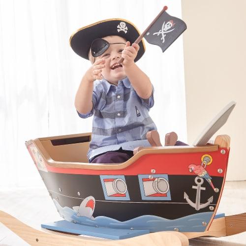 Teamson Kids Large Wooden Childrens Rocking Pirate Ship Toy Rocker TD-0066A Perspective: back