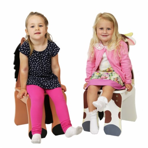 Fantasy Fields Children Kids Toddler Wooden Cow Chair (no table) TD-11324A2C Perspective: back