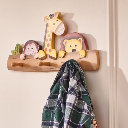 Fantasy Fields Children Sunny Safari Kids Wooden Coat Hanger Hooks TD-11637A Perspective: back