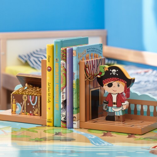 Fantasy Fields Children Wooden Bookends Kids Book Ends Decoration Gift TD-11605A Perspective: back