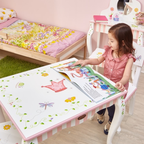 Fantasy Fields  Princess & Frog Kids Wooden Table (no chairs) W-7395A1 Perspective: back