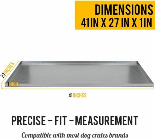 KOPEKS - Heavy Duty Multipurpose Replacement Metal Tray - Galvanized - Rust & Crack Proof Perspective: back