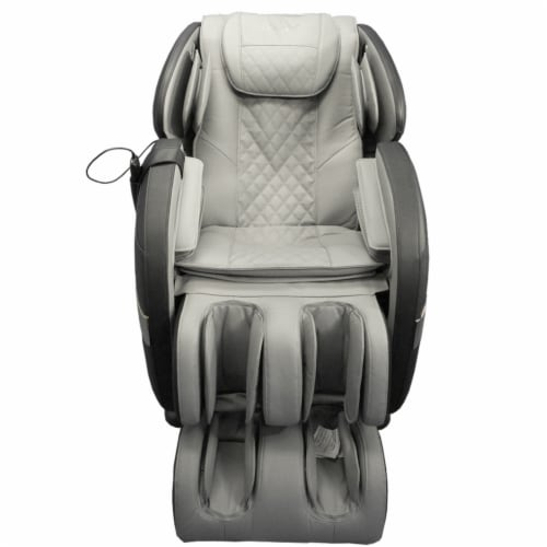 Osaki OS Champ Zero Gravity Full Body Massage Chair Heat Recliner, Black & Gray Perspective: back