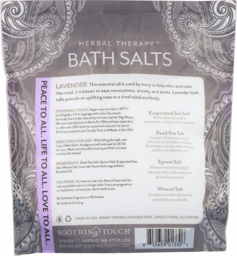 Soothing Touch Lavender Bath Salts Perspective: back