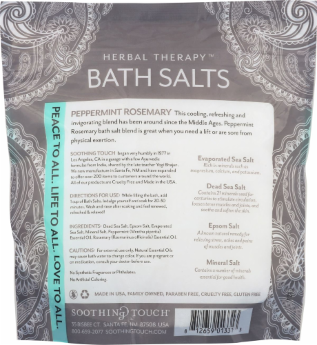Soothing Touch Peppermint Rosemary Bath Salts Perspective: back