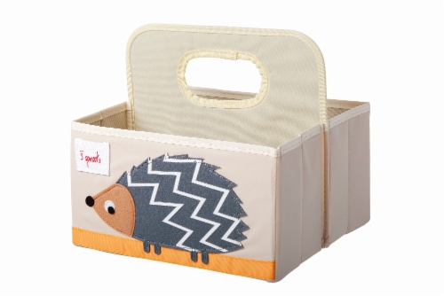 3 Sprouts Baby Diaper Caddy - Organizer Basket for Nursery, Hedgehog Perspective: back