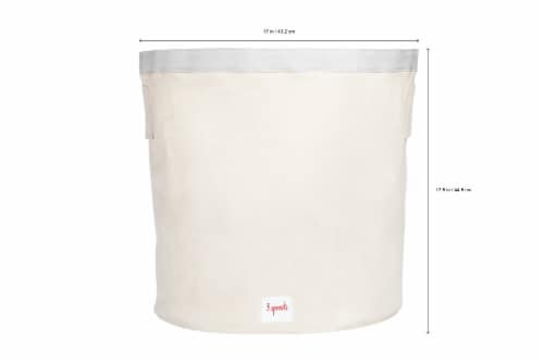 3 Sprouts Canvas Storage Bin - Laundry and Toy Basket for Baby and Kids, Lion Perspective: back