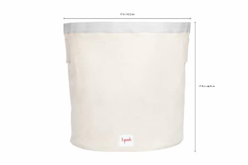 3 Sprouts Canvas Storage Bin - Laundry and Toy Basket for Baby and Kids, Panda Perspective: back