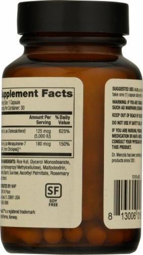 Mercola Vitamins D3 & K2 Capsules Perspective: back