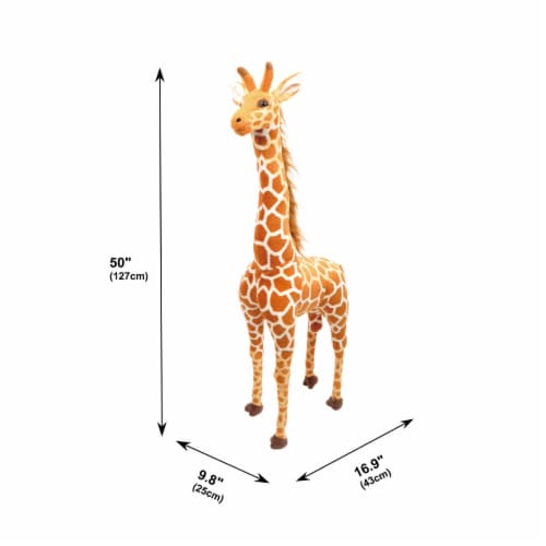 Linzy Toys Standing Giraffe Plush Perspective: back
