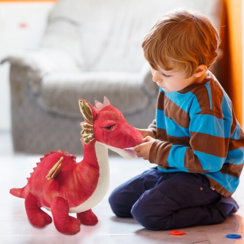 Linzy Toys Dragon Coin Bank - Red Perspective: back