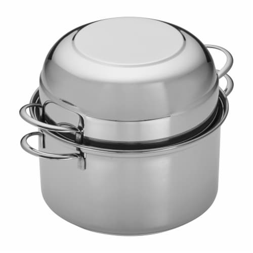 Demeyere Resto 3.2-qt Stainless Steel Mussel Pot Perspective: back