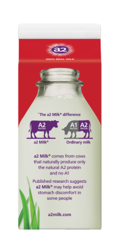 A2 Ultra-Pasteurized Whole Milk Perspective: back