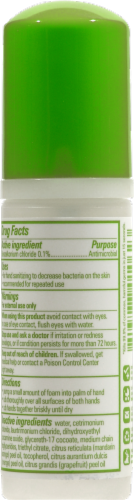 Babyganics the Germinator: Tangerine Foaming Hand Sanitizer Perspective: back