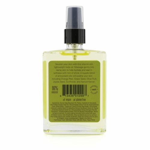 Farmhouse Fresh Citrus Cilantro Body Oil 110ml/4oz Perspective: back