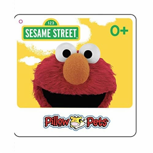 Pillow Pets Sesame Street Elmo Plush Toy Perspective: back