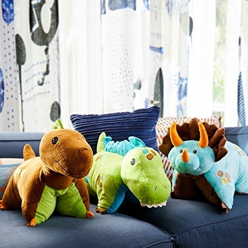 Pillow Pets Dinosaur Plush Toy - Green Perspective: back