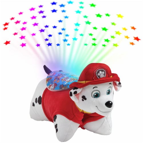 Pillow Pets Sleeptime Lite Nickelodeon Paw Patrol Marshall Plush Toy Perspective: back