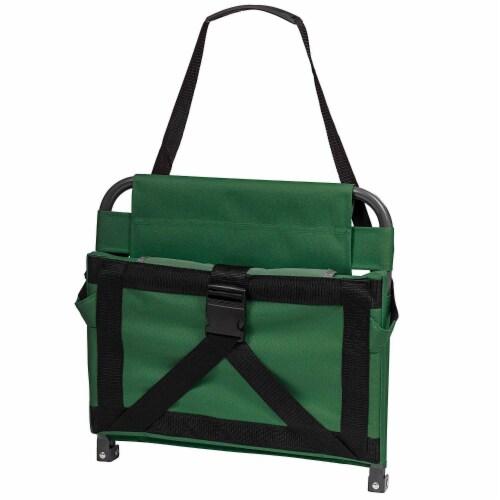 Eastpoint Sports Adjustable Bleacher Backrest Stadium Seat w/ Cup Holder, Green Perspective: back