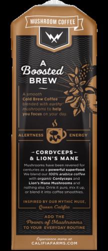 Califia Farms Unsweetened Mushroom Coffee Perspective: back