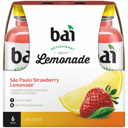 Bai Strawberry Lemonade Antioxidant Infused Beverage Perspective: back