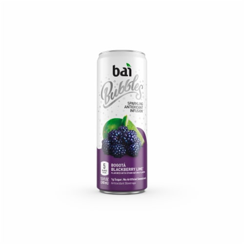 Bai Bubbles Bogota Blackberry Lime Sparkling Beverage Perspective: back