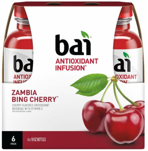 Bai Zambia Bing Cherry Antioxidant Infused Beverage Perspective: back