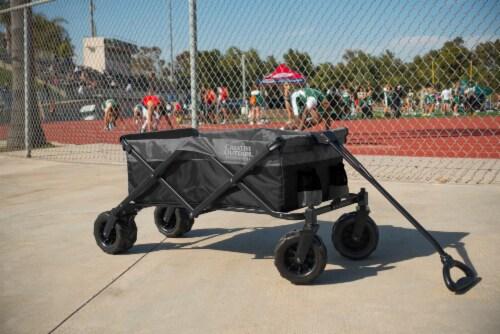 Creative Outdoor Platinum All-Terrain Folding Wagon - Black/Gray Perspective: back