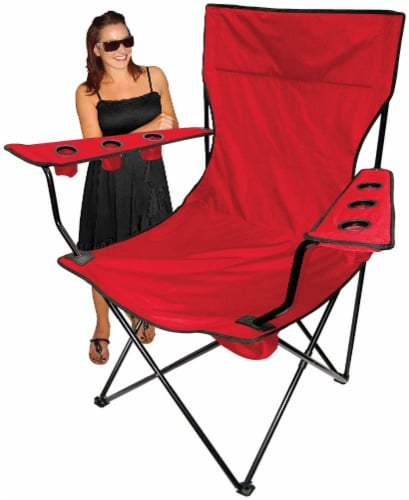 Creative Outdoor Giant Kingpin Folding Chair - Red Perspective: back