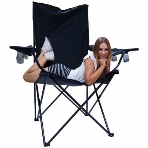 Creative Outdoor Giant Kingpin Folding Chair - Black Perspective: back