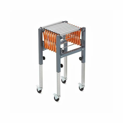 Bora Tool Conveyor Roller with Locking Casters and Adjustable Height and Length Perspective: back