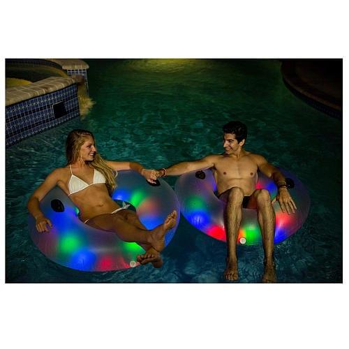 Pool Candy Jumbo Illuminated Water Tube Perspective: back