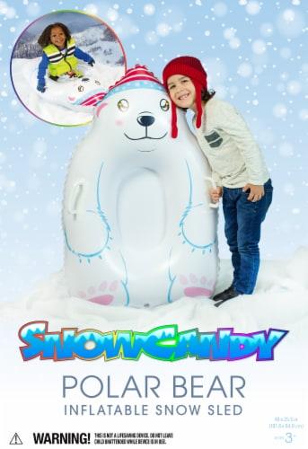 SnowCandy Inflatable Polar Bear Inflatable Snow Sled Perspective: back