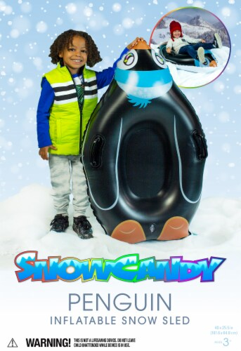 SnowCandy Inflatable Penguin Inflatable Snow Sled Perspective: back