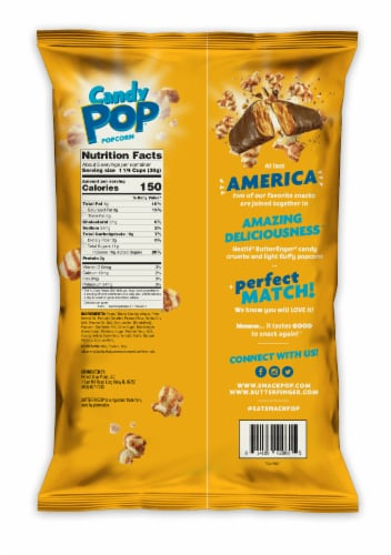 Candy Pop Butterfinger Candy Coated Popcorn Perspective: back