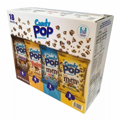 Candy Pop Popcorn Variety Pack (18 Count) Perspective: back