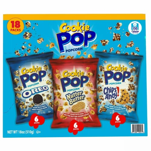 Cookie Pop Variety Pack, 1 Ounce (Pack of 18) Perspective: back