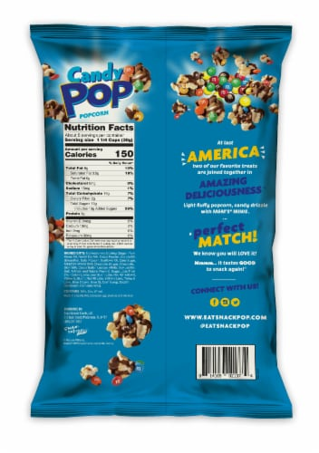 Candy Pop M&M's Minis Coated Popcorn Perspective: back
