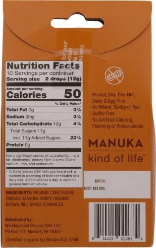 Wedderspoon Organic Manuka Honey Drops Perspective: back