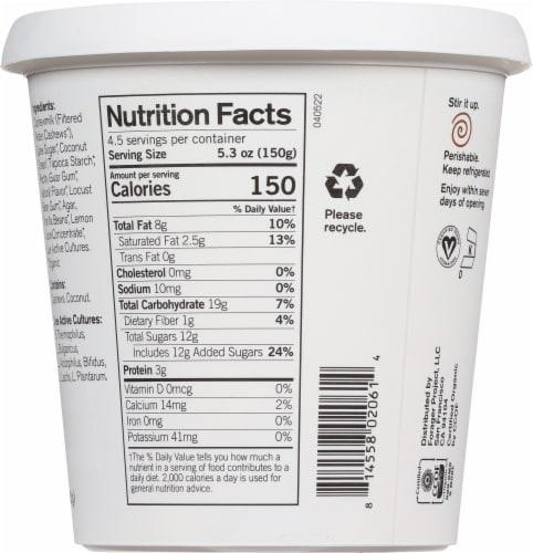 Forager Project Organic Dairy-Free Vanilla Cashewmilk Plant-Based Yogurt Perspective: back