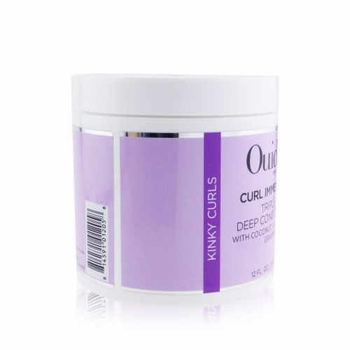 Ouidad Curl Immersion Triple Treat Deep Conditioner (Kinky Curls) 354ml/12oz Perspective: back