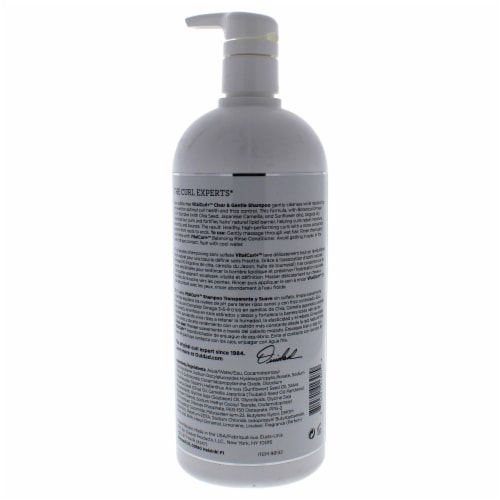 VitalCurl Plus Clear and Gentle Shampoo by Ouidad for Unisex - 33.8 oz Shampoo Perspective: back