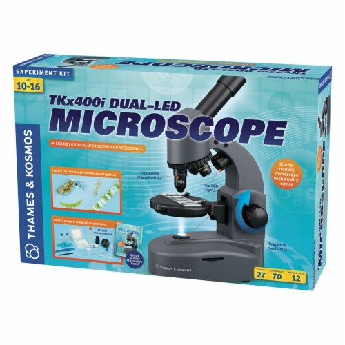 Thames & Kosmos Experiment Kit - TKx400i Dual-LED Microscope Perspective: back