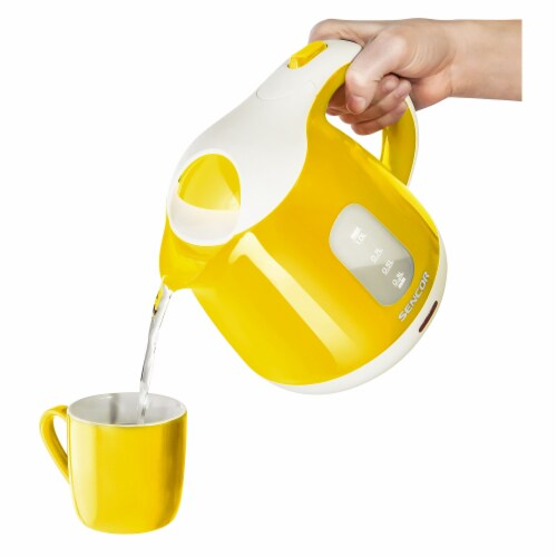 Sencor Small Electric Kettle - Yellow Perspective: back