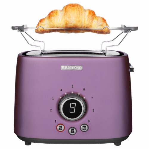 Sencor 2-Slot Toaster with Digital Button and Rack - Violet Perspective: back